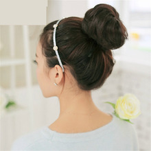 Ohyes Scrunchie Bun Updo Hairpiece Hair Clip-on Bun Dish Hair Bun Tray Ponytail Extension Hairpiece Wig Curly Colors (China (Mainland))