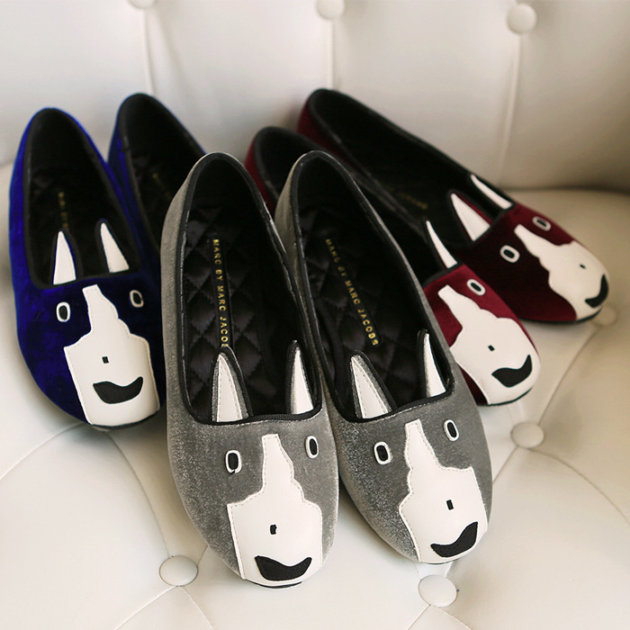 The 2015 summer animal pattern shoes shoes slip on foot sleeve flat shallow shallow mouth loafer