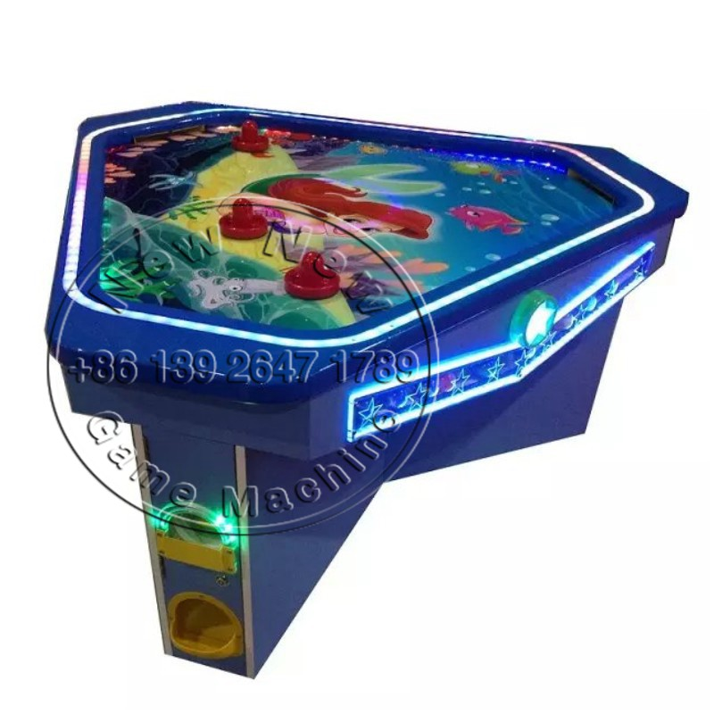 2016 The Latest Indoor Amusement Center Equipment Arcade Coin Operated Game Machine 3 Person/People Adults Kids Air Hockey Table(China (Mainland))