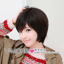 Girls 2012 wig short hair bobo oblique bangs , face-lift fresh preppystyle(China (Mainland))