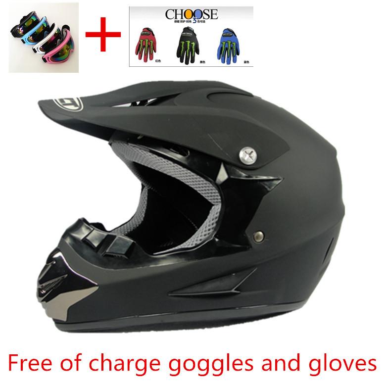 Free of charge goggles and gloves Cross helmet motorcycle helmet full face helmet of off-road racing helmet(China (Mainland))