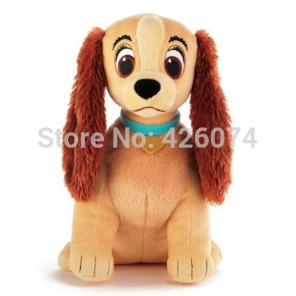 New Original Lady and the Tramp Stuffed Animals Toys For Girls 29CM Lady Dog Plush Toys For Children Christmas Gifts(China (Mainland))