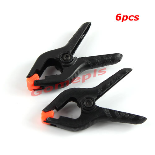 F85 Free Shipping New 6 PCS Hard Plastic Micro Spring Clamps Set DIY Tools Grip Clips(China (Mainland))