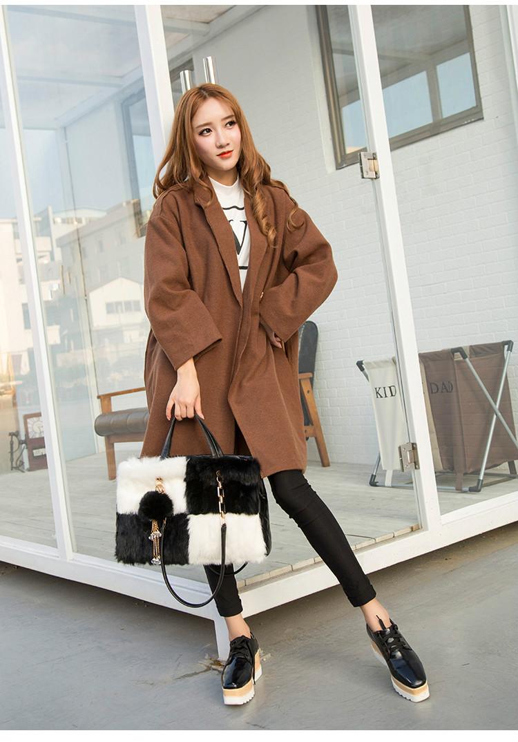 2016 New Real Fur Ladies Handbag European And American Style  Fashion Bags Casual Shoulder  New Real Fur Ladies Handbag Baa30019<br><br>Aliexpress