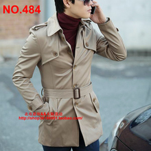 Men's in the Korean version of the new fashion personality cultivate one's morality single-breasted long trench coat. 484.S-3 xl