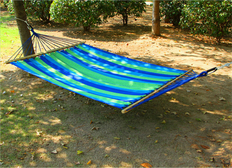 High Quality Heavy Duty Double Cotton Hammock Sleeping Bed Swing Hanging 2 Person Outdoor Camping Patio Yard Canvas Hammock()