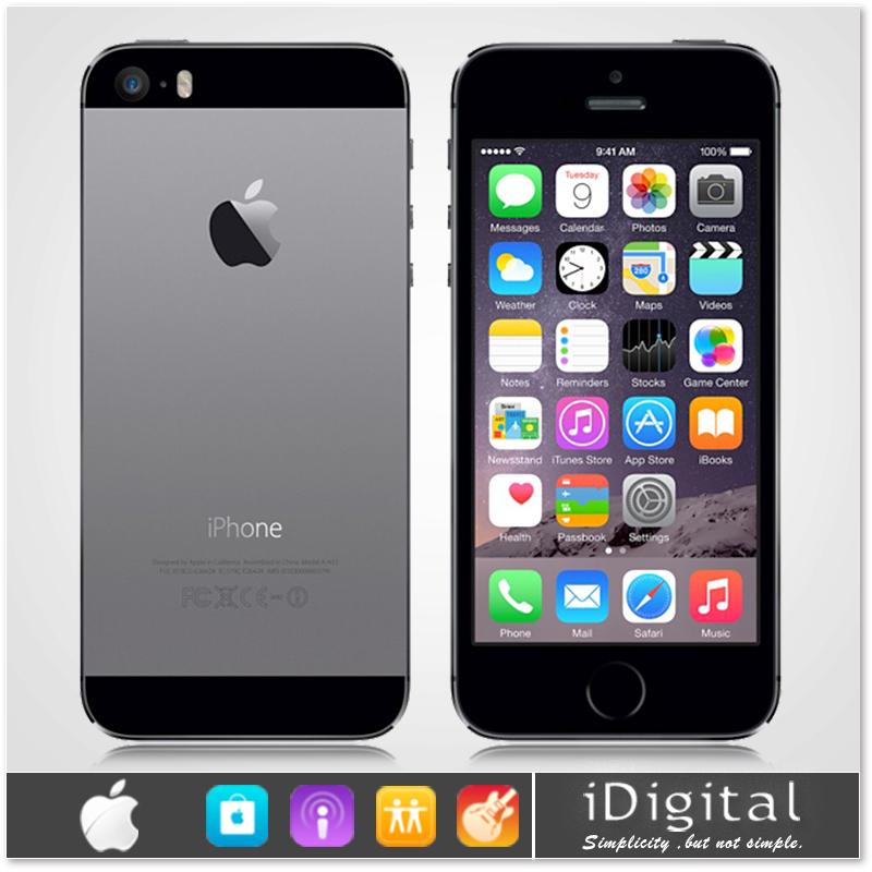 "Original Apple iPhone 5S Unlocked Mobile Phone 16GB/32GB Dual Core IOS 8 4.0""IPS HD 3G WCDMA 8MP WIFI GPS Siri Smart Cell Phone(China (Mainland))"