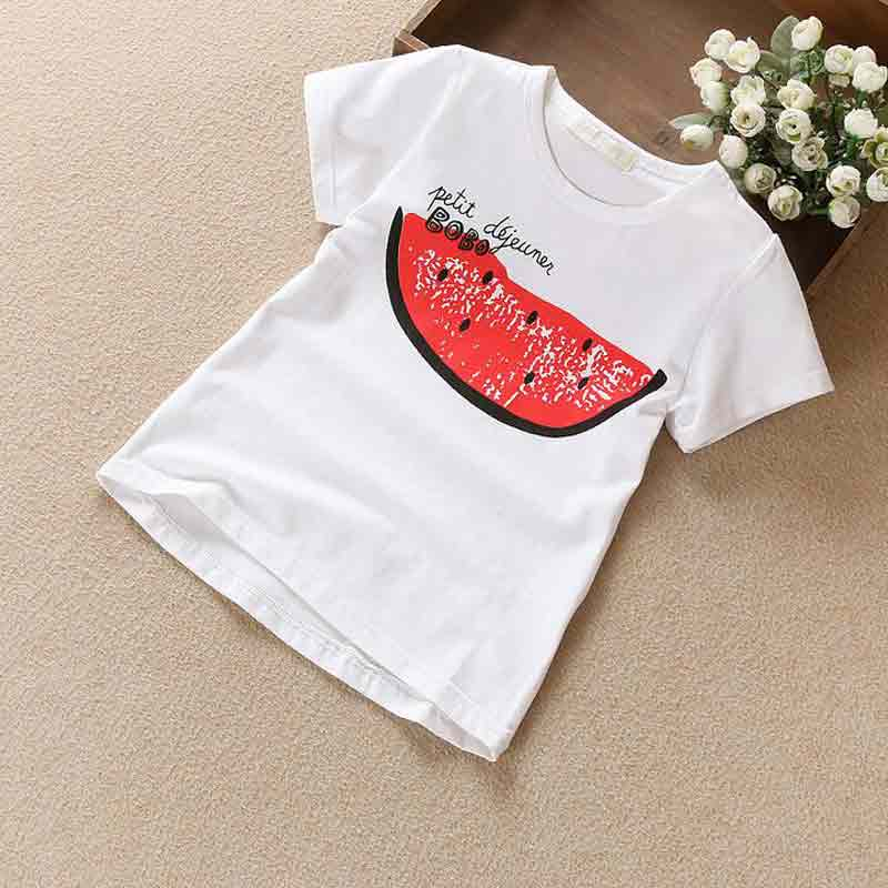 2017 Summer Baby Girl T-shirt Clothing with Watermalon Print Cartoon Infant Kids Clothing Cotton Short T shirt for Children Boys(China (Mainland))