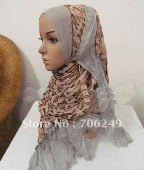 ,patchwork shawl,animal printed scarf,women,s scarf,muslim hijab,2012 new design,45*180cm,fashion ladies shawl - ELLEN FASHION ACCESSORIES store