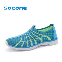 Socone Comfortable Mens Walking Shoes Summer Breathable Slip On Sport Sneakers Beach Water Shoes Outdoor Men Fashion Sneakers