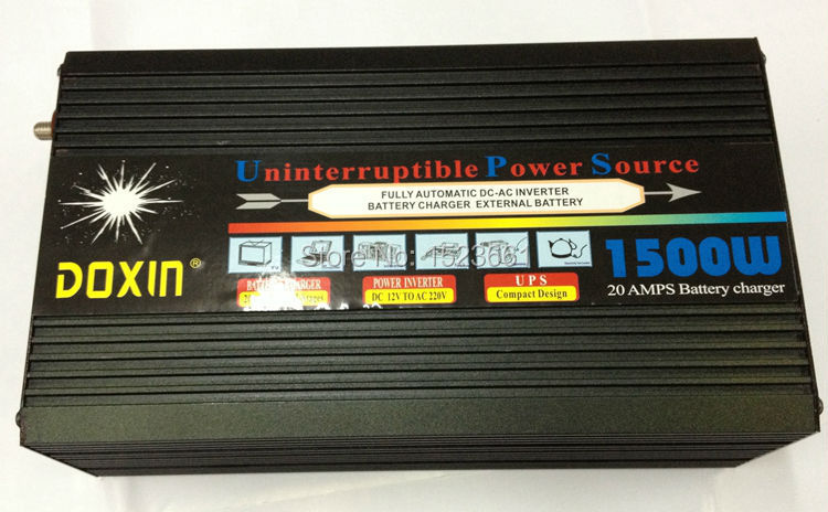 Ononderbroken Power Supply 1500w Power sine wave Power inverter 12v 220v 1500w inverter with chargers(China (Mainland))