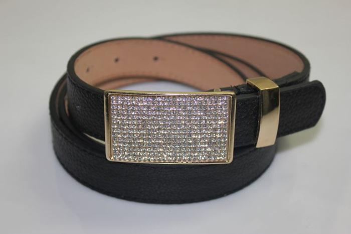 Belt for kids or boys 100% Crystal Buckle PU Leather Belts for boys&grils thin belts width 2.5cm length 110CM kids belts cintos(China (Mainland))
