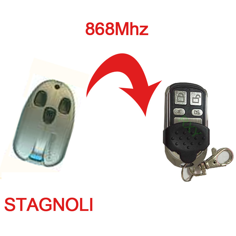 free shipping 4 channel duplicator STAGNOLI 868mhz rolling code remote(China (Mainland))