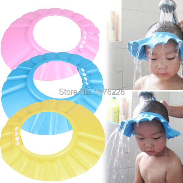 Adjustable Baby Child Kids Shampoo Bath Shower Cap Hat Wash Hair Shield B2C Shop(China (Mainland))
