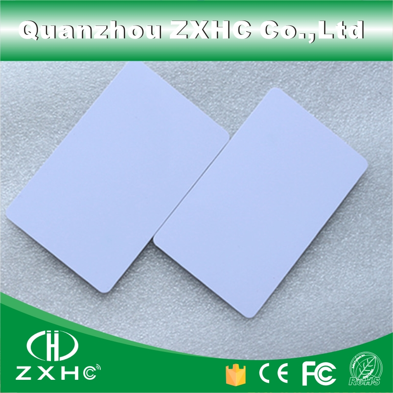 (10pcs/lot) FM1108(Compatible S50) Waterproof PVC NFC Smart White Card RFID Tags 13.56MHz Access Control Cards(China (Mainland))
