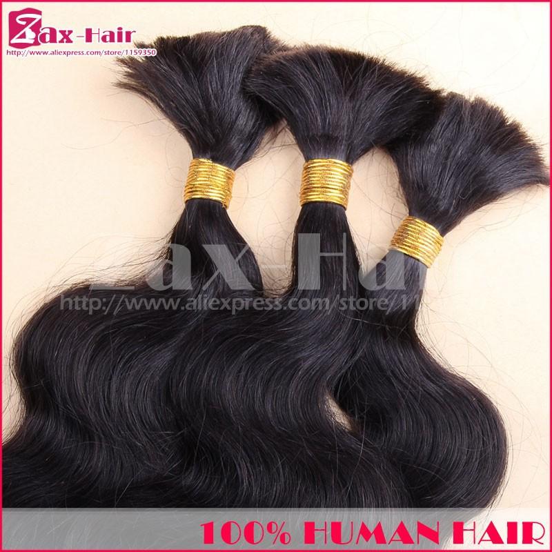 Top Quality Bulk Virgin Hair Body Wave Bulk Hair For Braiding In Stock No Attachment 100% Unprocessed Human Hair Long Grade 7A