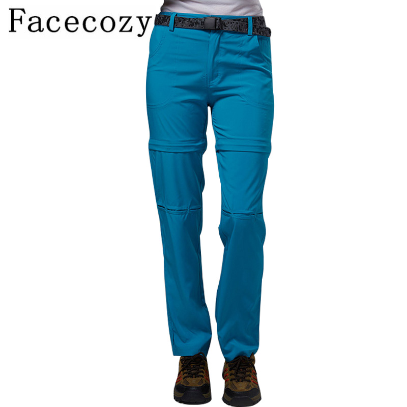 Facecozy Women s Spring Outdoor Climbing Hiking Pants Quick Drying Trouser Female Removable Summer Camping Shorts