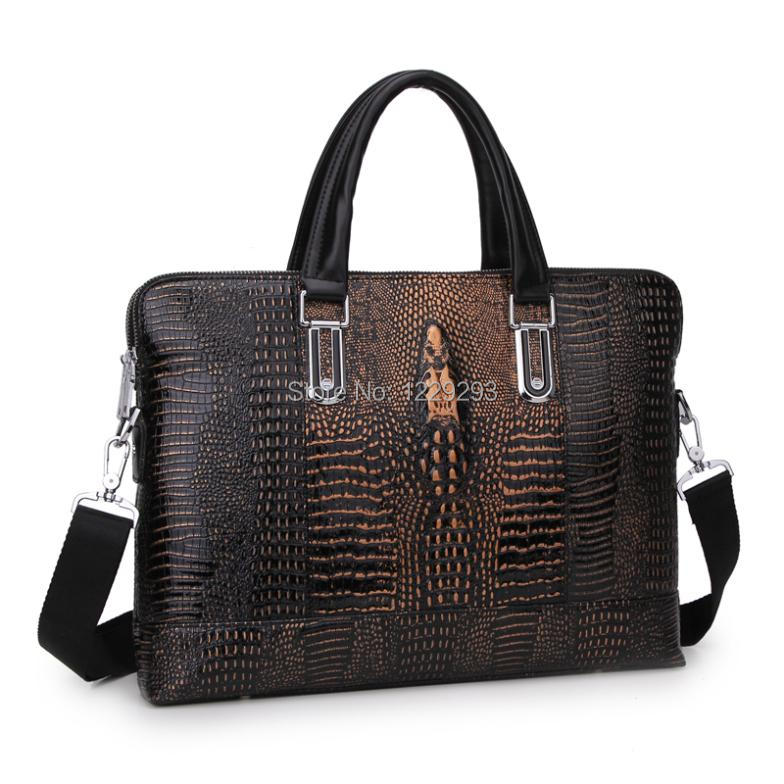 Horizontal Men Business Men Messenger Bags Genuine Leather Cowhide Laptop Bag Men Briefcase Men Portfolio Casual Bag(China (Mainland))