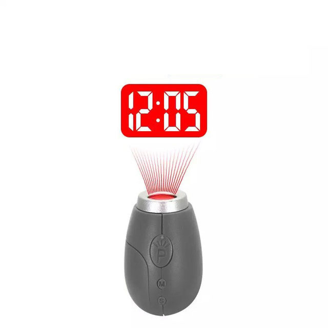2017 Digital Projection Clock LED Portable Clocks Mini Clock With Time Projection Digital Watch Night Light Magic Projector cloc(China (Mainland))