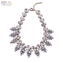 2014 New arrive fashion torques necklace J C Unique Europe costume choker chunky glass crystal Necklaces statement jewelry women