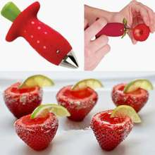 1pc Novelty Strawberry Tomatoes Stem Huller Remover Kitchen DIY Tool(China (Mainland))