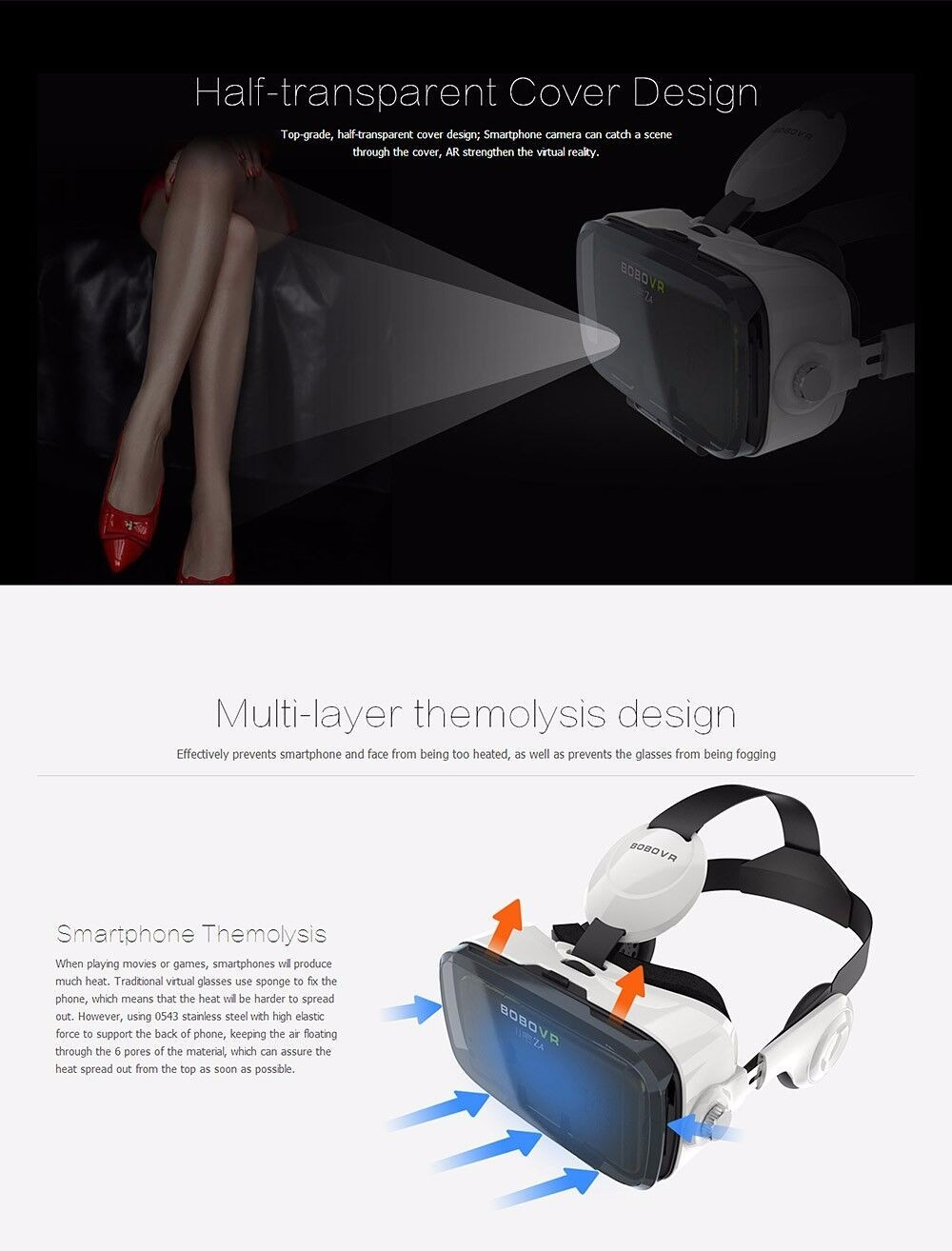 ถูก เดิมแว่นตาเสมือนจริงFOV120ชุดหูฟัง3D VR Glasseหัวหน้าเมาแว่นตาG Oogleกระดาษแข็งหมวกกันน็อคVRBOX +ระยะไกล+ OTG