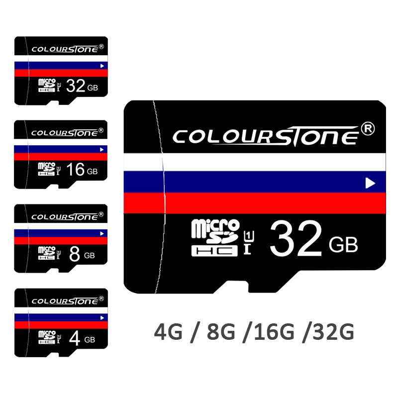 *Colourston Customized Memory card Russian Flag Micro SD card 8G 16G 32G 64G TF card For Gift Pen drive flash card WITH Adapter(China (Mainland))