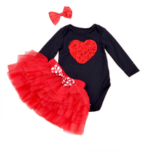 Baby Ruffle Skirts Set Lovely Cat print Girls Saia Tutu Pettiskirt Party Dance Skirt Sets Crossbones Bodysuit and Headband(China (Mainland))