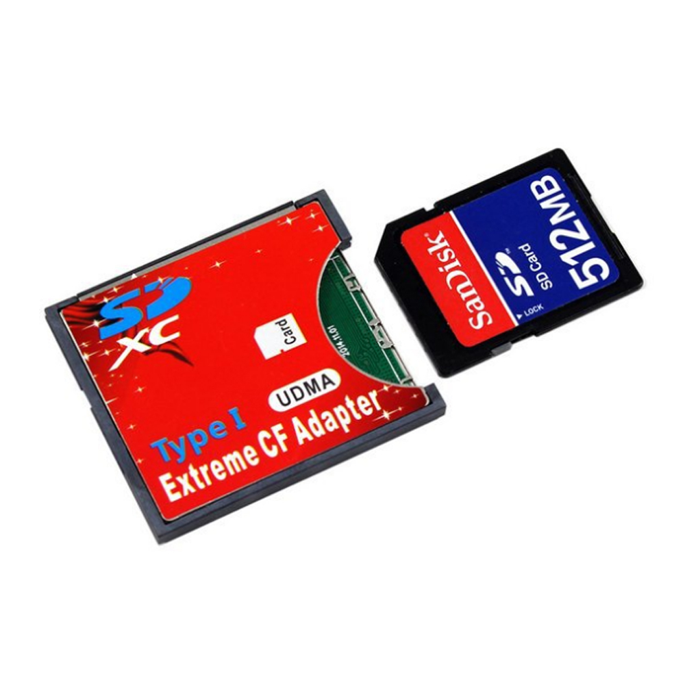 SD / SDHC / SDXC / MMC to CF Compact Flash Type I Memory Card Adapter Reader with Retail Package(China (Mainland))