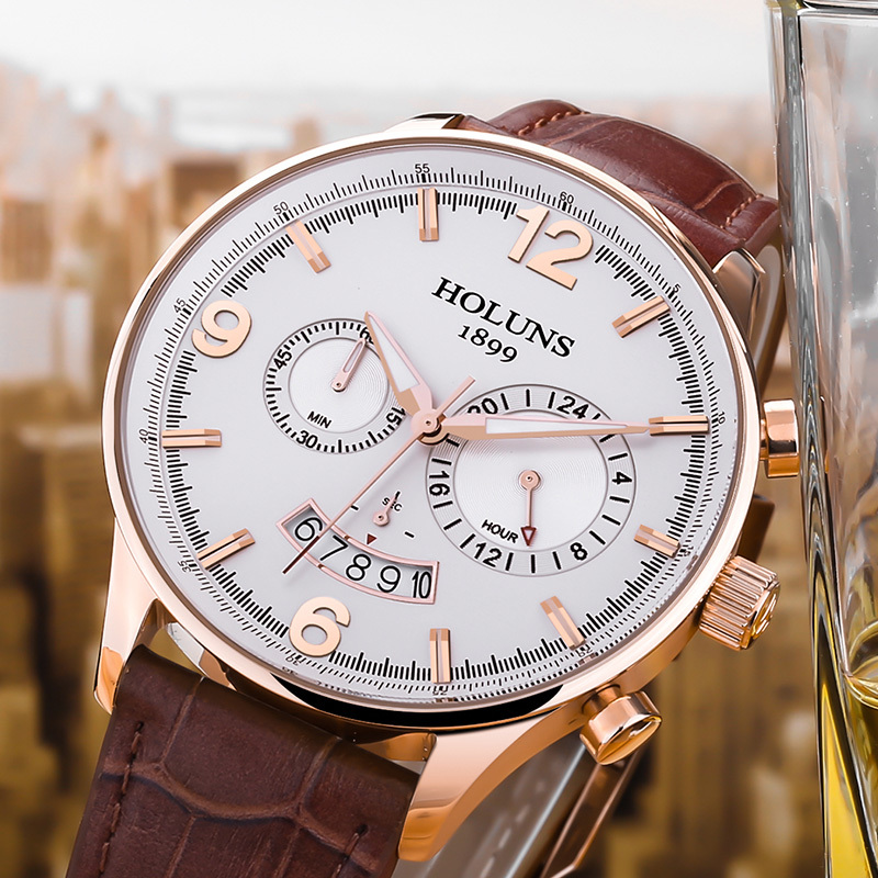 2016 Limited Time limited Paper Watch Men Saat holuns Genuine Casual Leather Multifunction Men s Waterproof