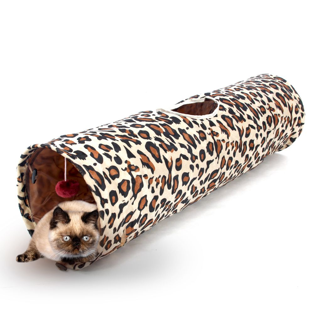 Domestic Delivery Pet Tunnel Cat Play Tunnel Leopard Cat Fun Long Tunnel Kitten Play Toy Collapsible Cat Toy Rabbit PlayTunnel(China (Mainland))