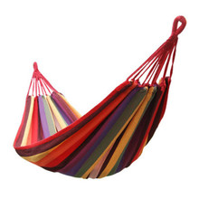Outdoor Kids Toy Swings Leisure Hammock Swing 2m*0.8m Colorful Bed Camping Travel Canvas Give Rope(China (Mainland))