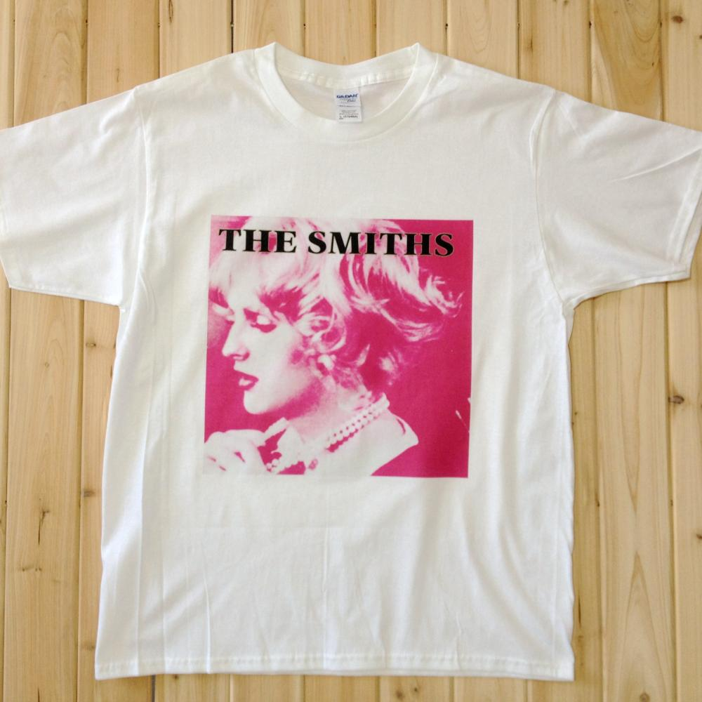 THE SMITHS Rock Music Band Tee T-Shirts Unisex Mens Womens White Short Sleeve SS1(China (Mainland))