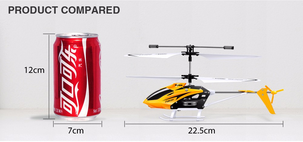 Hot Sale Syma W25 Radio RC Helicopter Shatterproof Remote Control Mini Drone with Flashing Light Indoor Toy for Child