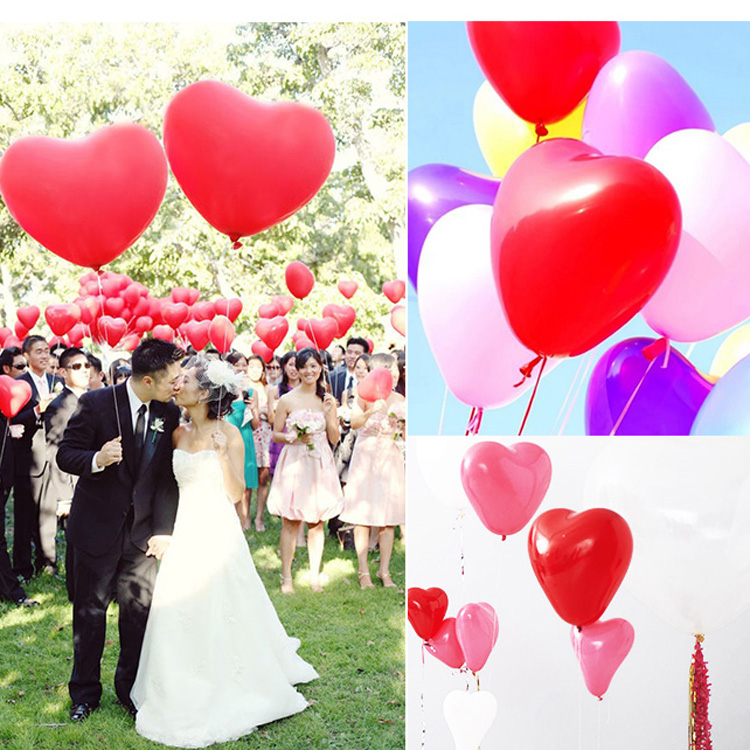 2.2g Good Quantity 20pcs/lot Romantic lovely Heart Shaped Pearl Latex Balloons Wedding Birthday Party Decoration free shipping(China (Mainland))