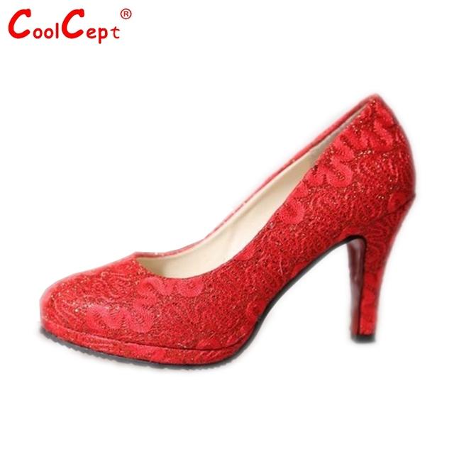Новый женская мода сладкий высокий каблук обувь женская элегантность насос сладкий ...