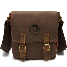 Geniue Leather canvas bag