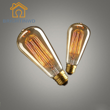 Buy BRIGHTINWD 2PCS 40W Classical Vintage Retro E27 Filament ST64 Edison Bulb Light Warm White 220V Antique Incandescent Bulb Lamp for $4.94 in AliExpress store