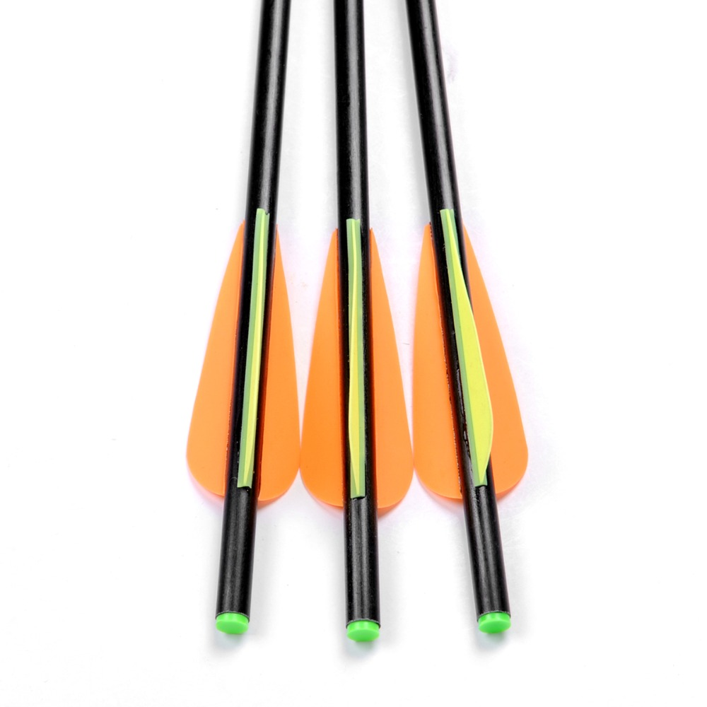 3pcs lot Crossbow Fiberglass Arrow 34cm length OD8mm Crossbow Arrow Bolts Arrow Archery Bow Target Arrow