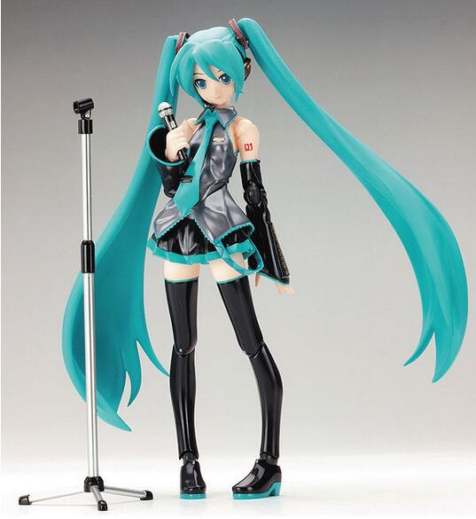 New hot sale anime figure toy figma 014 Hatsune Miku Collection 15CM gift for children free shipping(China (Mainland))