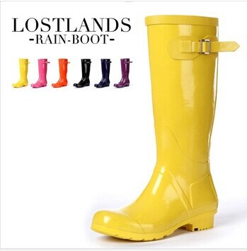 Womens Yellow Rain Boots - Cr Boot