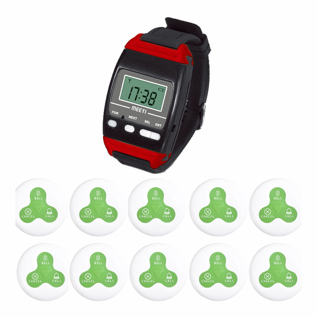20 pcs buttons 2 receiver Wireless paging service Watch calling receiver