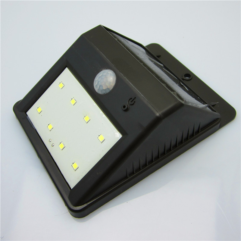 8led solar powered motion sensor light outdoor ip65. Black Bedroom Furniture Sets. Home Design Ideas