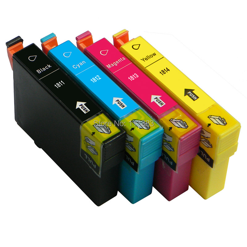 T1811 T1814 compatible ink cartridge 4color For EPSON XP 30 XP 102 XP 202 XP 205