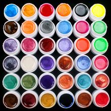 36 Pcs Mix Colors Pearl UV Builder Gel Acrylic Nail Art Set For Nail Tips(China (Mainland))