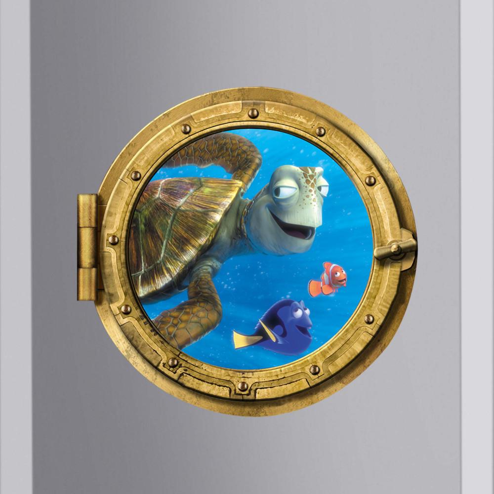 Fish Wall Art For Kids Bathroom : Ocean view fish turtle d bathroom wall sticker stickers
