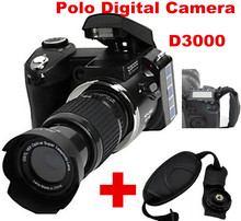 D3000 3.0 inch 16MP 720P HD Digital Camera Professional Camcorder 16x Optical Zoom Sharpshots with Wide-angle / Telephoto Len