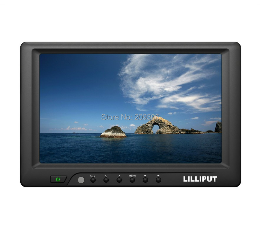 """LILLIPUT 669GL-70NP/C/T 7"""" TFT LED 4-wire resistive touch panel HDMI monitor with AV VGA DVI HDMI car PC touch screen monitor(China (Mainland))"""
