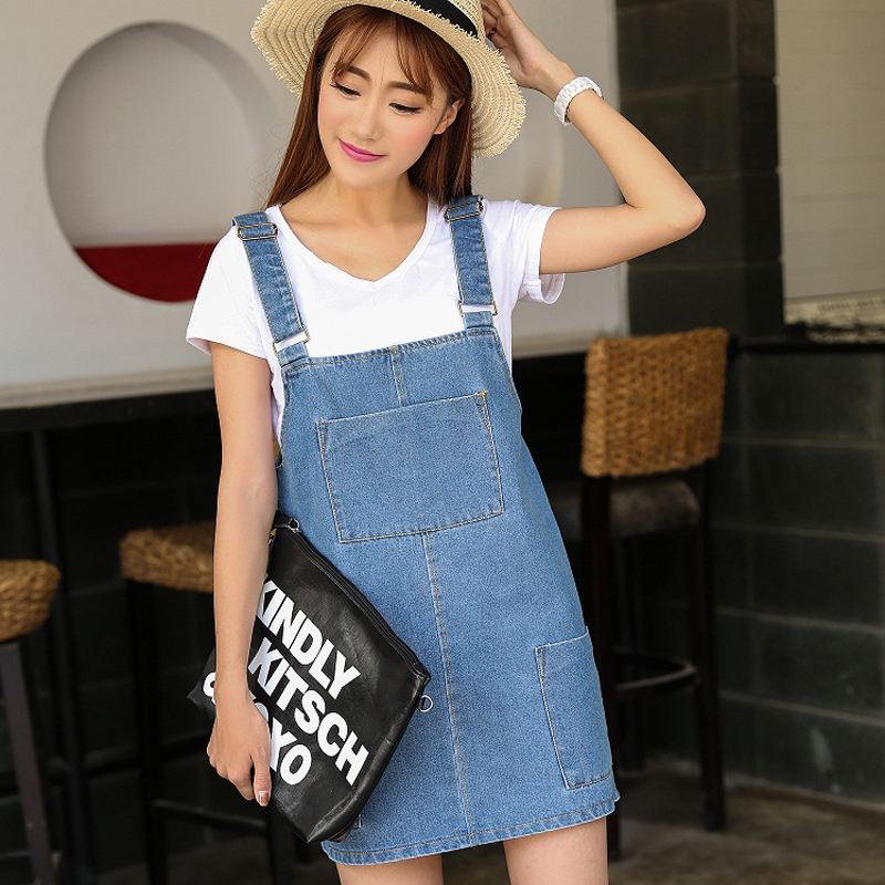 Perfect Women Denim Dresses 2015 Long Sleeve Sexy Ladies Solid Pocket Jeans