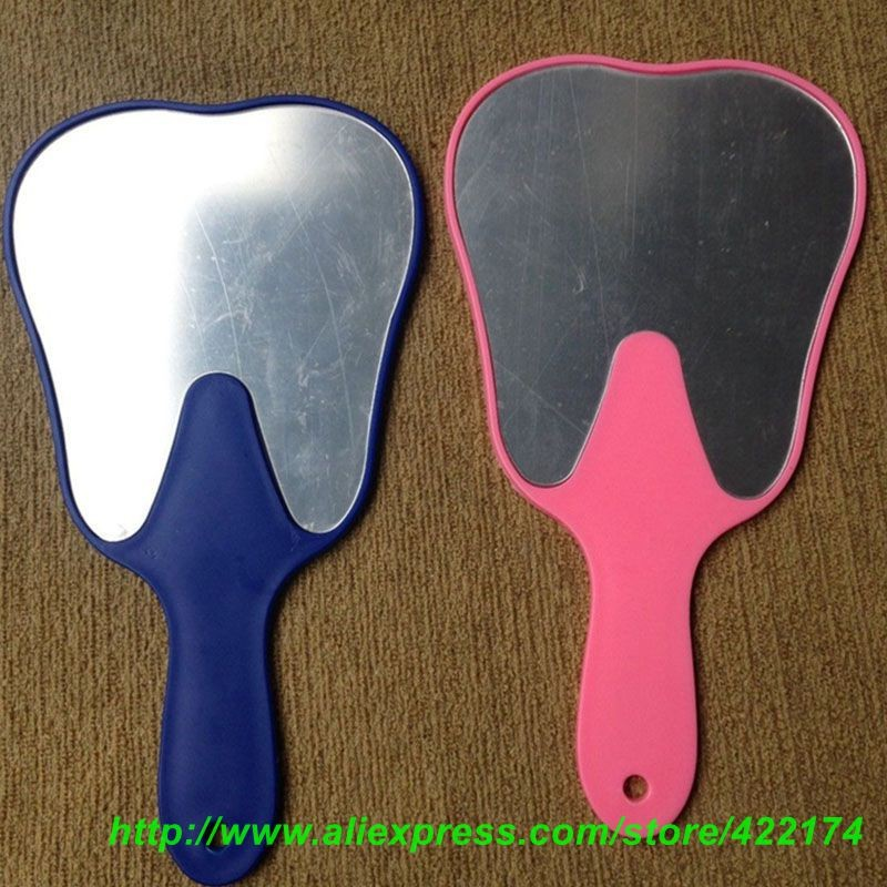 Free Shipping 1pc Dental Promotion Gifts Tooth Shaped Hand Mirror for dentist<br><br>Aliexpress